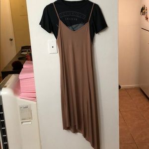 Asymmetrical double layered dress